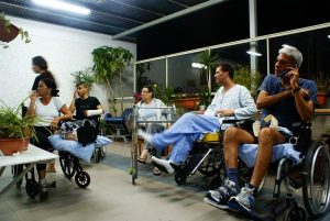 group of people on their wheelchairs