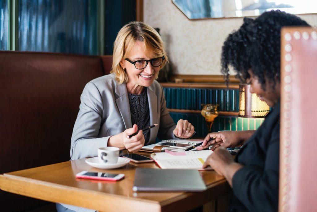 lawyer-client talking